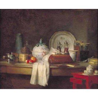 Tableaux nature morte - Tableau -Comedor de Oficiales- - Chardin, Jean Bapt. Simeon