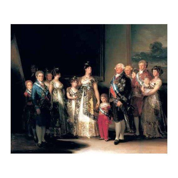 pinturas do retrato - Quadro -Retrato de la Familia de Carlos IV de España-