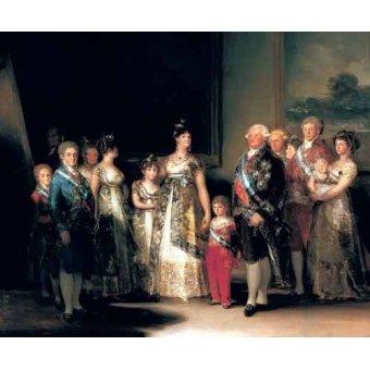 Tableaux de Personnages - Tableau -Retrato de la Familia de Carlos IV de España- - Goya y Lucientes, Francisco de