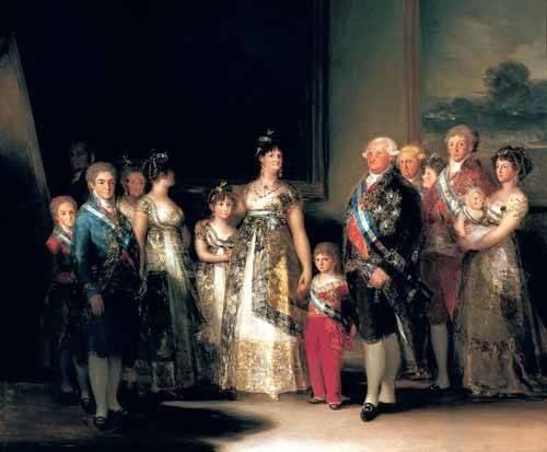 tableaux-de-personnages - Tableau -Retrato de la Familia de Carlos IV de España- - Goya y Lucientes, Francisco de