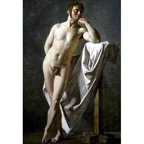 pinturas do retrato - Quadro -Estudio anatómico de un hombre-