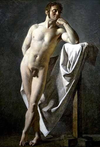 tableaux-de-personnages - Tableau -Estudio anatómico de un hombre- - Ingres, Jean-Auguste-Dominique