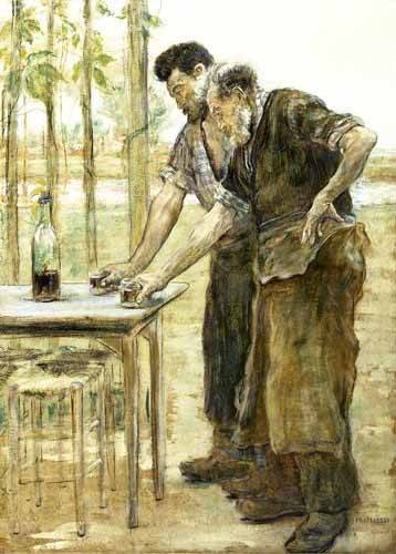 tableaux-de-personnages - Tableau -Herreros bebiendo- - Raffaelli, Jean Francois