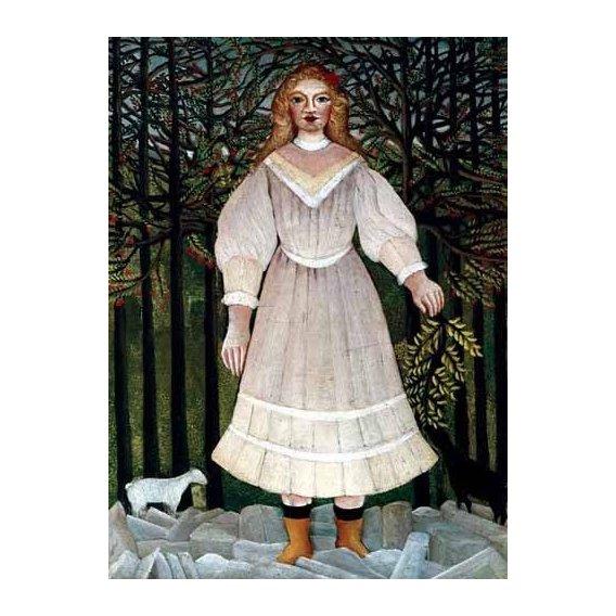 pinturas do retrato - Quadro -la Niña-