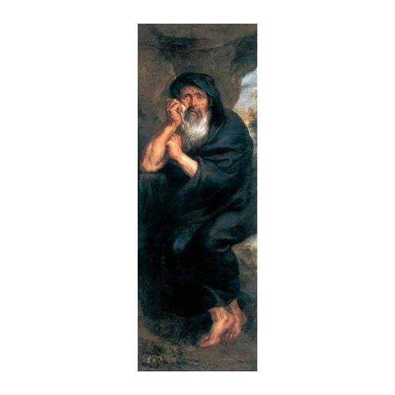 pinturas do retrato - Quadro -Heráclito, el filosofo que llora-