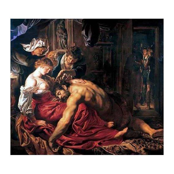 pinturas do retrato - Quadro -Sansón y Dalila-