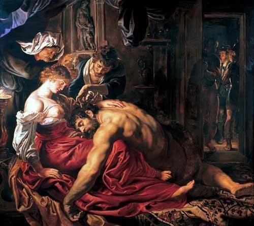 tableaux-de-personnages - Tableau -Sansón y Dalila- - Rubens, Peter Paulus