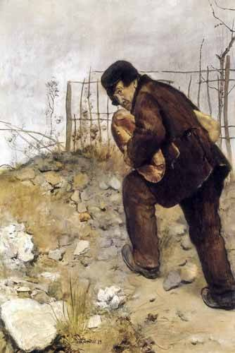 tableaux-de-personnages - Tableau -L'homme aux deux pains- - Raffaelli, Jean Francois
