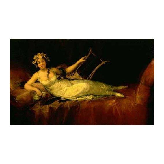 pinturas do retrato - Quadro -Retrato de la Marquesa de Santa Cruz-