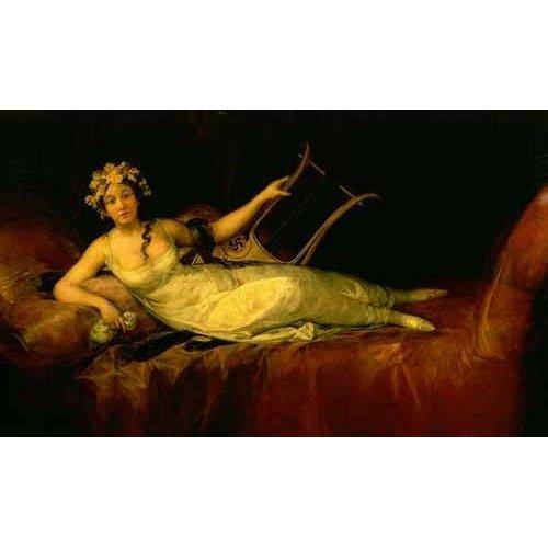 Tableau -Retrato de la Marquesa de Santa Cruz-