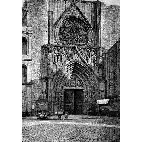 Tableau -Catedral de Valencia, vista de la puerta de los Apóstoles-