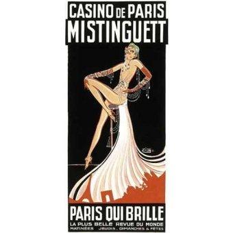 Tableaux cartes du monde, dessins - Tableau -Cartel: Mistinguett en el Casino de Paris- - _Anónimo Frances