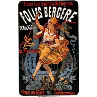 Tableaux cartes du monde, dessins - Tableau -Cartel: Espectaculos en Folies Bergere, 32 rue Richer- - _Anónimo Frances