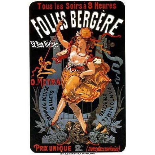 Tableau -Cartel: Espectaculos en Folies Bergere, 32 rue Richer-