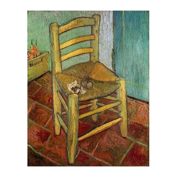 naturezas mortas - Quadro -La silla de Vincent-