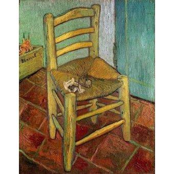 Tableaux nature morte - Tableau -La chaise de Vincent- - Van Gogh, Vincent