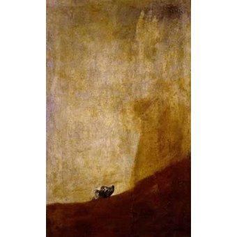 Tableaux de faune - Tableau -Perro semihundido- - Goya y Lucientes, Francisco de