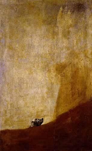 tableaux-de-faune - Tableau -Perro semihundido- - Goya y Lucientes, Francisco de