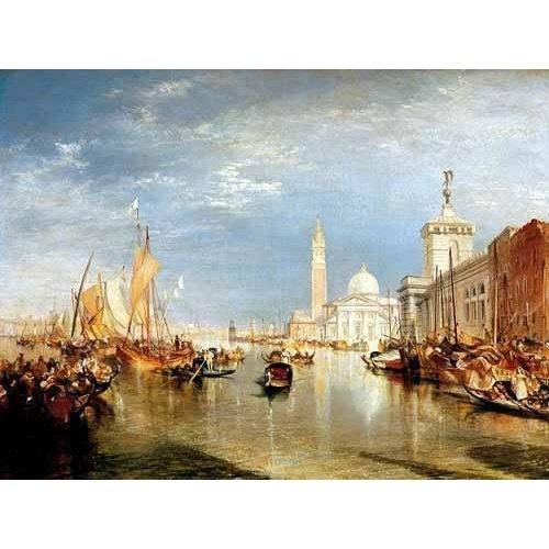 pinturas de paisagens - Quadro -Dogana y San Giorgio Maggiore en Venecia-