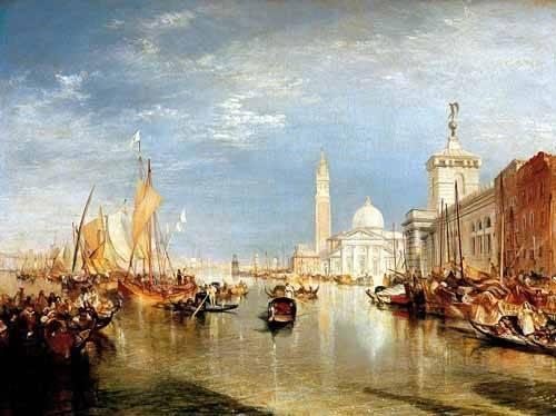 tableaux-de-paysages - Tableau -Dogana y San Giorgio Maggiore en Venecia- - Turner, Joseph M. William