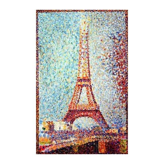 pinturas de paisagens - Quadro -La Torre Eiffel-