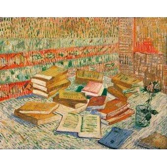 Tableaux nature morte - Tableau -les livres jaunes, 1887- - Van Gogh, Vincent