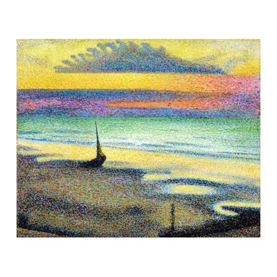 pinturas abstratas - Quadro -The Beach (Heist)-
