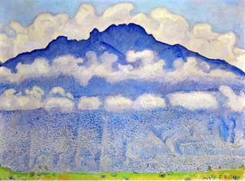 tableaux-de-paysages - Tableau -Landscape in the Berne Oberland- - Hodler, Ferdinand