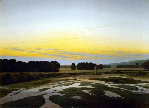tableaux-de-paysages - Tableau -The Big Preserve Near Dresden- - Friedrich, Caspar David