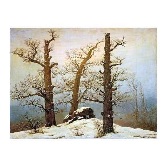 pinturas de paisagens - Quadro -Megalithic Caim In The Snow-
