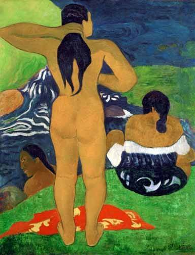 tableaux-de-personnages - Tableau -Tahitian women on the beach,1892- - Gauguin, Paul
