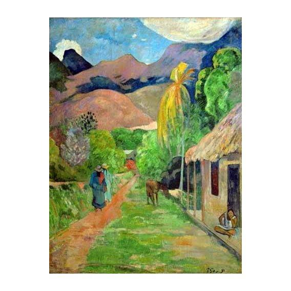 pinturas de paisagens - Quadro -Path In Papeete, Rue du Tahiti-