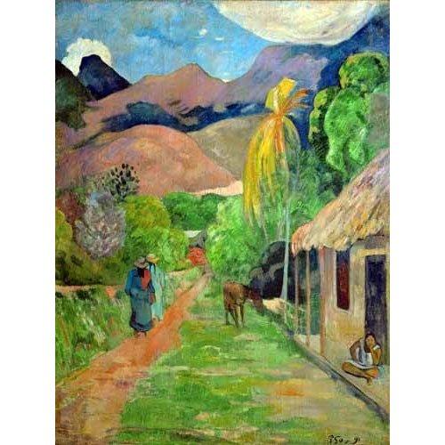 Tableau -Path In Papeete, Rue du Tahiti-