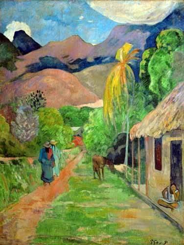 tableaux-de-paysages - Tableau -Path In Papeete, Rue du Tahiti- - Gauguin, Paul
