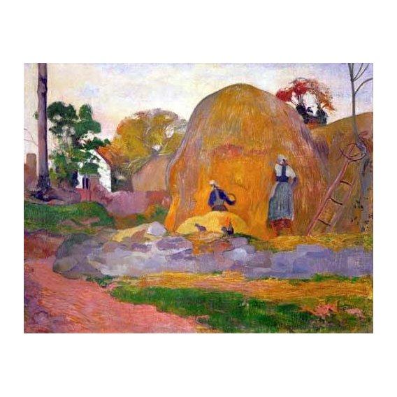 pinturas de paisagens - Quadro -The yellow haystack, 1889-