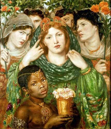 tableaux-de-personnages - Tableau -The Beloved- - Rossetti, Dante Gabriel