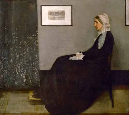 tableaux-de-personnages - Tableau -The painter's mother Anna Mathilda McNeill (1804-1881).- - Whistler, James Abbot McNeill
