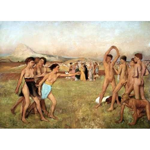 Tableau -Exercice des jeunes Spartans, 1860-