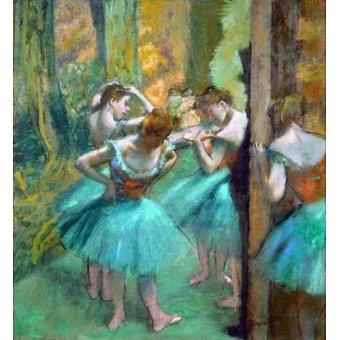 Tableau -Danseurs roses et verts, 1890-