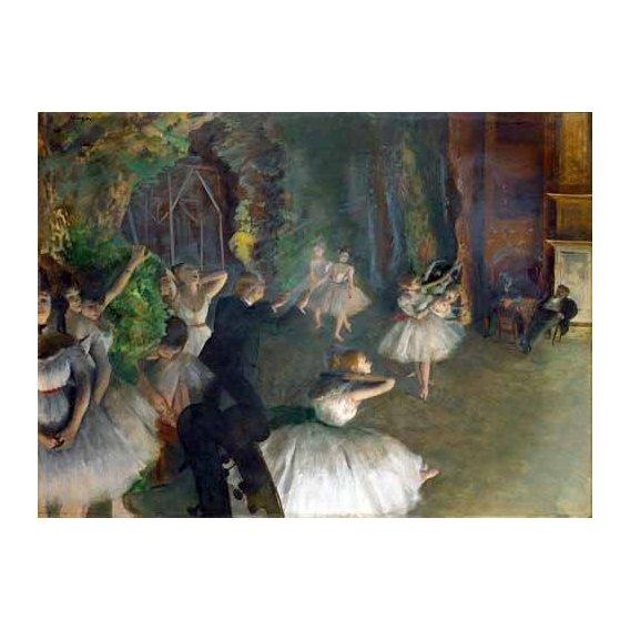 pinturas do retrato - Quadro -Repetition D un Ballet Sur La Scene, 1873-74-