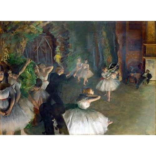 Tableau -Répétition d'un ballet sur scène, 1873-74-
