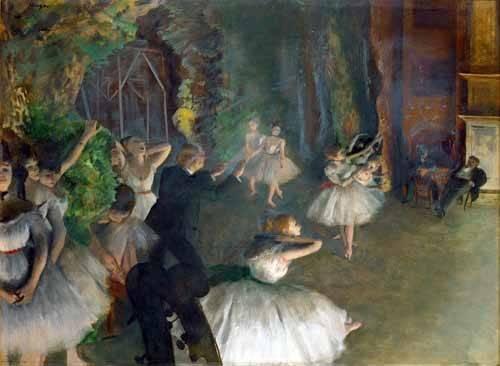 tableaux-de-personnages - Tableau -Répétition d'un ballet sur scène, 1873-74- - Degas, Edgar