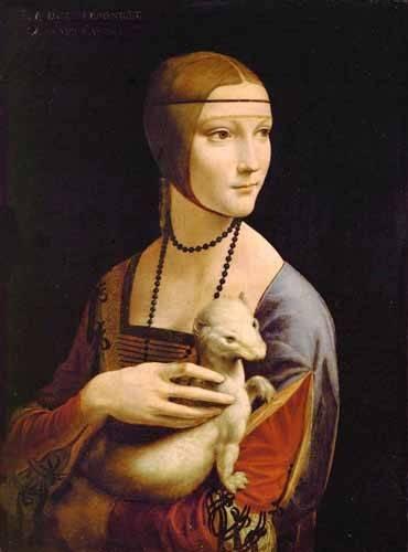 tableaux-de-personnages - Tableau -Dama con un armiño- - Vinci, Leonardo da
