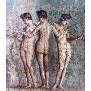 Tableau -Las tres Gracias- Frescos de Pompeya-