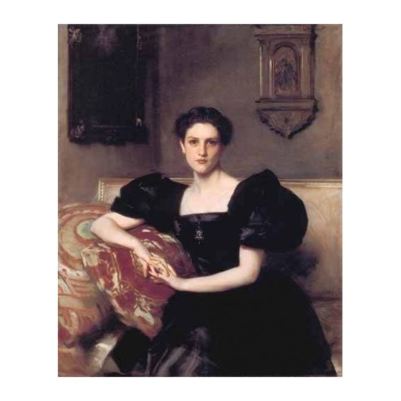 pinturas do retrato - Quadro -Retrato de Elizabeth Winthrop Chanler-