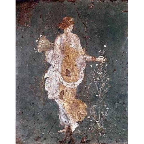 Tableau -Fille cueillant des fleurs, (Pompéi)-
