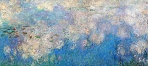 tableaux-de-paysages - Tableau -Nymphéas - Les Nuages- - Monet, Claude