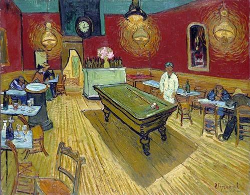 tableaux-de-personnages - Tableau -Le café de nuit à Arles, 1888- - Van Gogh, Vincent