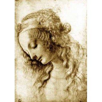 Tableaux cartes du monde, dessins - Tableau -Maria Magdalena- - Vinci, Leonardo da