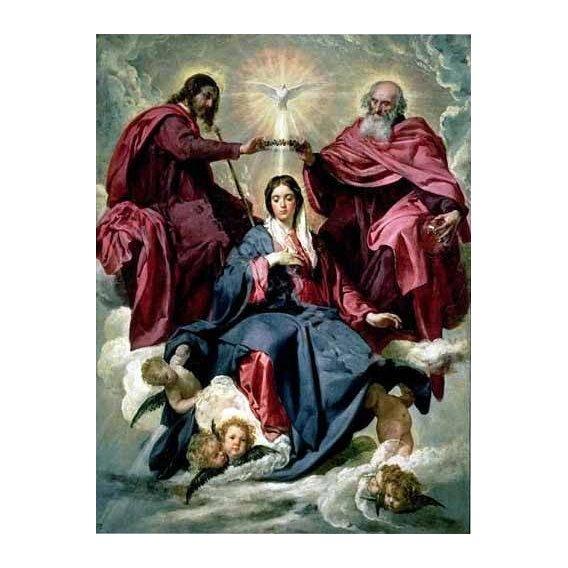 imagens religiosas - Quadro -Coronacion de la Virgen-